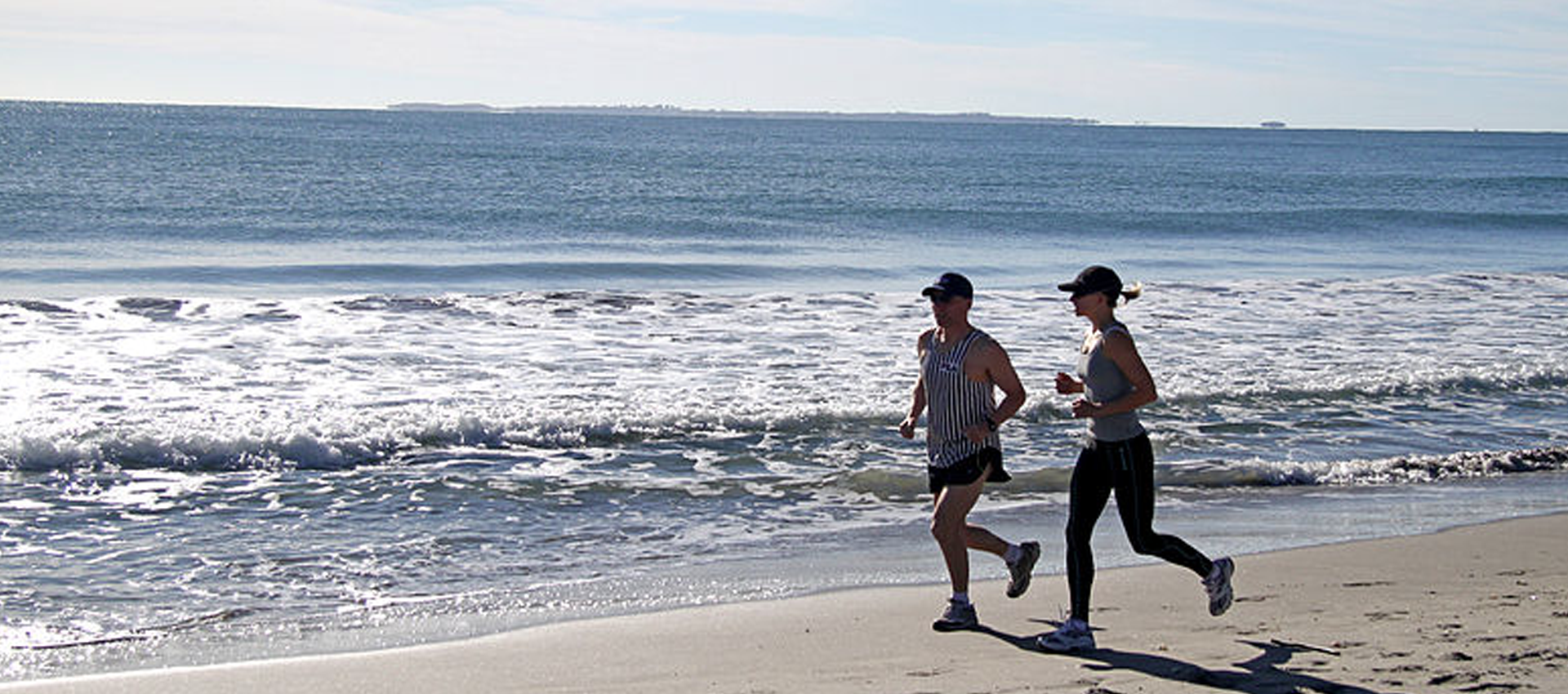 Running along beach